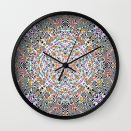 Lace And Light Lattice Skein Wall Clock