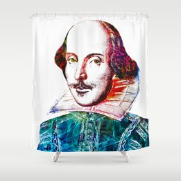 Graffitied Shakespeare Shower Curtain