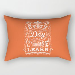 Lab No. 4 Every Day Is A Chance to Learn Motivational Quotes Rectangular Pillow