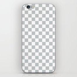 Light Grey Checkerboard Pattern iPhone Skin