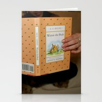 winnie the pooh Stationery Cards featuring Winnie•the•Pooh by Kearsten Taylor