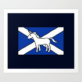 Unicorn, Scotland's National Animal Art Print