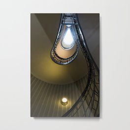 The bulb stairs in city of Prague Metal Print