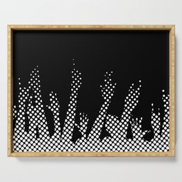 Halftone Raised Hands Serving Tray