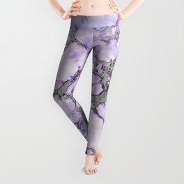 Lavender Marble Leggings