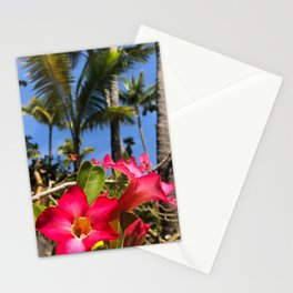 Tropical Pink Bahamian Flowers Stationery Cards