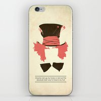 mad hatter iPhone & iPod Skins featuring Mad Hatter by TurtleGirl