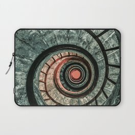 Pretty green spiral staircase Laptop Sleeve