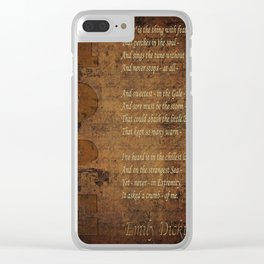 Emily Dickinson 5 Clear iPhone Case