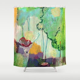 i am the meadow in the forest Shower Curtain