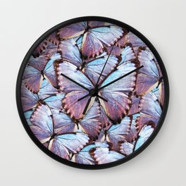 Iridescent Butterflies Wall Clock