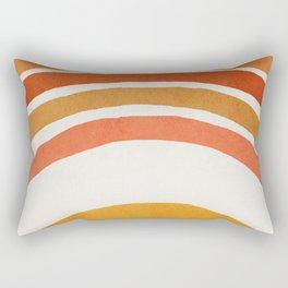 Rainbow, Mid century modern wall art, Nursery room Rectangular Pillow