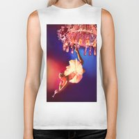 chandelier Biker Tanks featuring Lady Chandelier by Ginger Del Rey