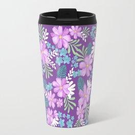 Watercolor flower bouquets- purple Travel Mug
