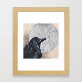 The Silvery Moon Framed Art Print