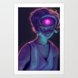 Third Eye (#Drawlloween2016 Series) Art Print