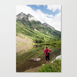 Hiking to Maroon Bells Canvas Print