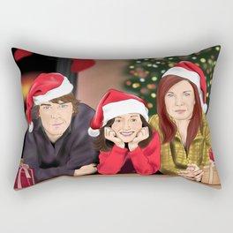 Merry Christmas - Argent Family Rectangular Pillow
