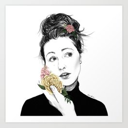 Delicate rose - floral portrait 1 of 3 Art Print