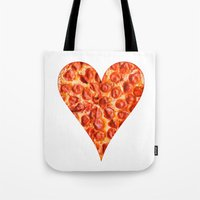 pizza Tote Bags featuring PIZZA by Good Sense