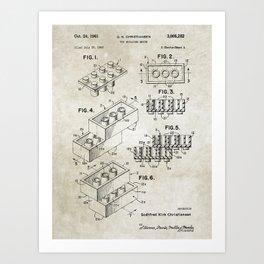 Lego/patent Art Print