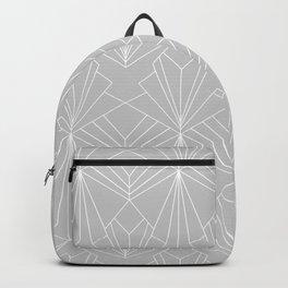 Art Deco on Grey Backpack