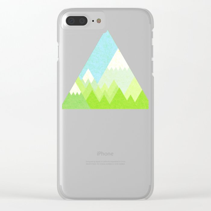 national park geometric pattern Clear iPhone Case