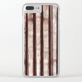 Birch Marsala Watercolor Clear iPhone Case