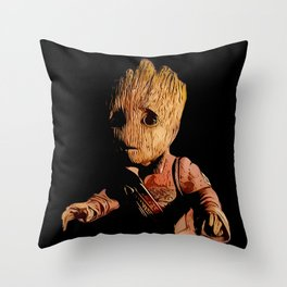 Baby/Groot Alternative Character Poster Throw Pillow