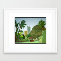 melbourne Framed Art Prints featuring Melbourne by Marigold Bartlett