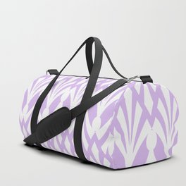 Decorative Plumes - White on Lavender Pink Duffle Bag