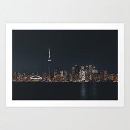 Silver Toronto Art Print