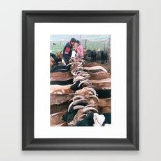 Goats in the Ghobi Framed Art Print