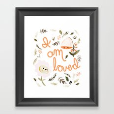 I Am Loved Botanical Print Framed Art Print
