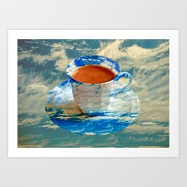 CUP OF CLOUDS Art Print