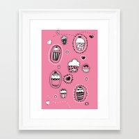 cupcakes Framed Art Prints featuring Cupcakes! by Duru Eksioglu