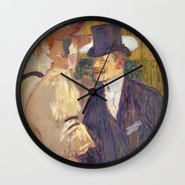 The Englishman, Henri de Toulouse Lautrec, 1892 Wall Clock