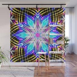 Winter Sinfonity Mandala Kaleidoscope Pattern Art Wall Mural