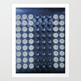 Burroughs Calcumeter Art Print