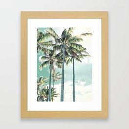 Under the palms Framed Art Print