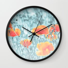 poppy dream Wall Clock