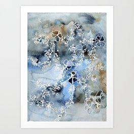 Winter flowers, take two Art Print