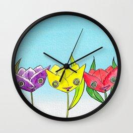 """Oro?"" Tulips Wall Clock"