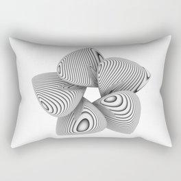 Bio Flower Art Print Rectangular Pillow