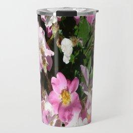 White and Pink Travel Mug