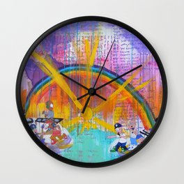 YBB + Gunpoets Play in Heaven Wall Clock