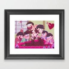 Matsuno bros' Valentine day Framed Art Print