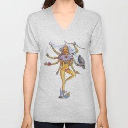 Modern Goddess Tools - Sexy Eight Armed Blonde Unisex V-Neck