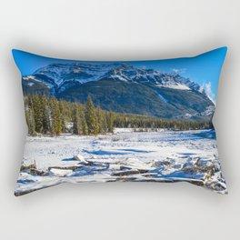Mount Kerkeslin in Jasper National Park, Alberta Rectangular Pillow