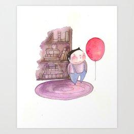 Billy's Balloon 01 Art Print